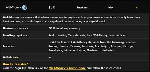 UK players can use WebMoney prepaid options to fund their casino, sportsbooka nd poker accounts online