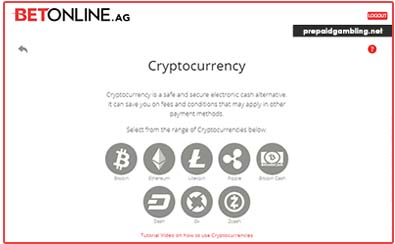 Betonine crypto deposit method page